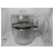 Vintage Pyrex 9 Cup Glass Percolator