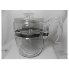 Vintage Pyrex 9 Cup Glass Percolator