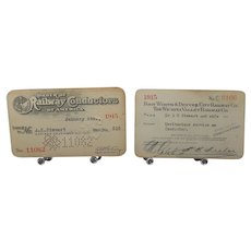 1915 ORC Membership Card and FW&D Annual Pass