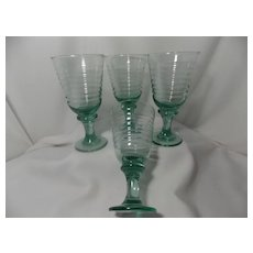 Libbey Sirrus Green Tea or Water Goblets