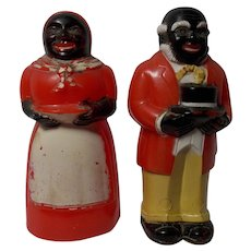 3.5 inch F & F Aunt Jemima Uncle Mose Salt and Pepper Shaker