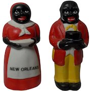 Vintage  Mammy/Aunt Jemima Uncle Mose Ceramic Salt Shakers