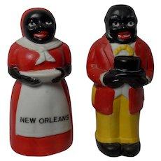 Vintage  Mammy/Aunt Jemima Uncle Mose Ceramic Salt Shakers