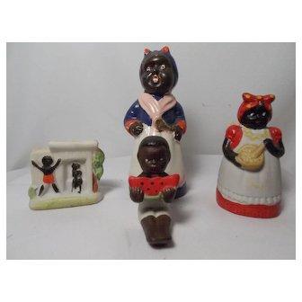 Four Piece Collection of Ceramic Black Memorabilia