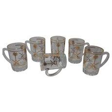 Vintage Pasablache Glass Saudi Arabian Tea or Espresso Cups