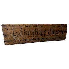 Vintage Lakeshire American Cheese Wooden Box
