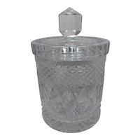 Vintage Elegant Cut Glass Crystal Biscuit Jar