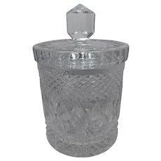 Vintage Elegant Cut Glass Crystal Biscuit Jar