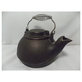Vintage Wagner's 1891 Original Cast Iron Cookware Tea Kettle