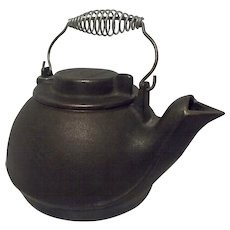 Vintage Wagner's 1891 Original Cast Iron Cookware Tea Kettle