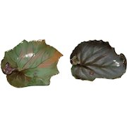 Vintage Lefton Butterfly and Leaf Dishes