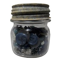 """Vintage """"Granny's"""" 1/2 pt. Ball Perfect Mason Jar with Buttons"""