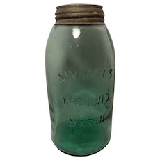 Swazee's Green 1/2 gallon Improved Masons Jar