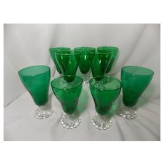Anchor Hocking Burple Forest Green Glasses