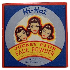 "Vintage ""Hi Hat Jockey Club"" Face Powder"