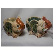 Vintage Pair of Elephant Ashtrays