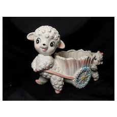 Inarco #E2974 Mama and Baby Lamb Planter