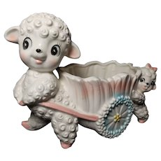 Inarco #E2974 Mama and Baby Lamb Planter
