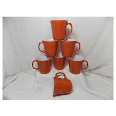 Vintage Cinnamon/Burnt Orange PYREX CORNING WARE Mugs