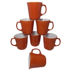 Vintage Cinnamon/Burnt Orange PYREX CORNING WARE Mugs