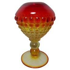 """Rare Amberina """"Thousand Eye"""" Vase"""