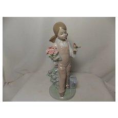 "Retired Lladro ""Spring"" Fine Porcelain Figurine #5217"