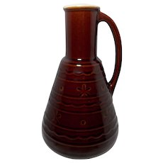 Mar Crest Daisy & Dot Stoneware 2 QT Carafe/Decanter