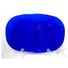 Duralex Bormioli Rocco Cobalt Blue Serving Platter