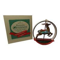 "1987 Charter Member Keepsake Ornament ""Carousel Reindeer"""