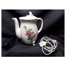 Vintage Electric Footed Whistling Teapot from Japan