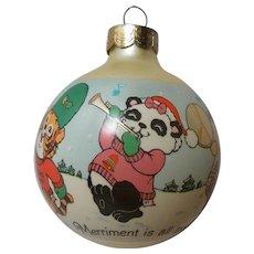"Vintage Hallmark Keepsake Glass Ornament ""Shirt Tales Parade"""