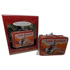 "Vintage Hallmark Keepsake Ornament ""The Lone Ranger"" Lunchbox"