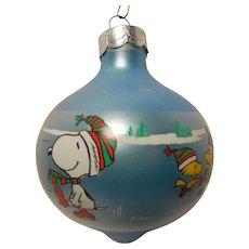 Vintage Hallmark Keepsake Glass Ornament 1986 Peanuts