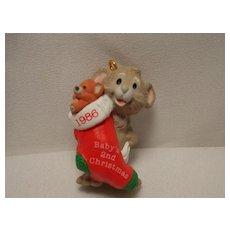 "1986 Hallmark Handcrafted Keepsake Ornament ""Baby's Second Christmas"""