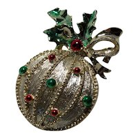 Vintage Christmas Ornament  Pin by Gerry's Brooch