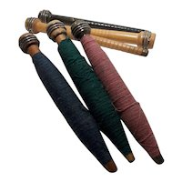 Vintage Wooden Yarn or Quill Bobbins