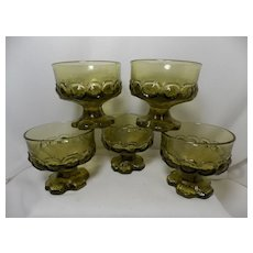 Franciscan Madeira Citron Green Champagne/Tall Sherbet Glasses by Tiffin
