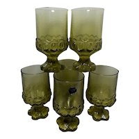 Franciscan Madeira Citron Green Water Glasses by Tiffin