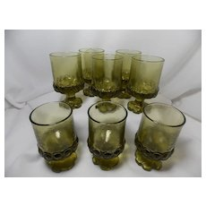 Franciscan Madeira Citron Green Juice/Wine Glasses by Tiffin