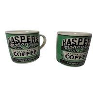 Vintage 1992 Yesteryear Kasper's Coffee Advertising Mugs