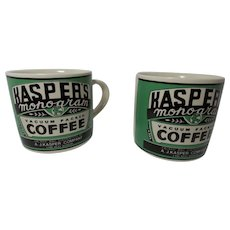 Vintage 1992 Yesteryear Kasper's Coffee Advertising Mugs