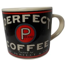 Vintage 1992 Yesteryear Perfect Coffee Advertising Mug