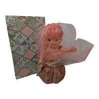 Vintage Celluloid Sachet Doll with Box
