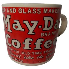 Vintage 1992 Yesteryear May-Day Brand Coffee Advertising Mug