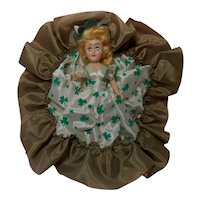 Vintage Irish Doll with Shamrock Dress