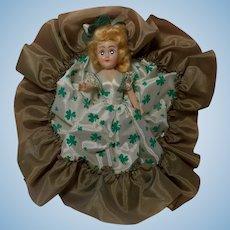 Vintage Irish Doll with Shamrock Dress