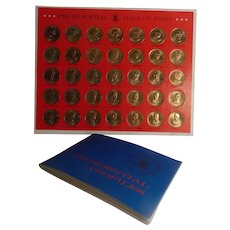 1968 Shell Oil Presidential Hall of Fame Coins