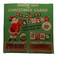 Vintage Show Off your Christmas Cards with Show-offs Display