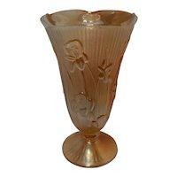 Vintage Jeanette Iris & Herringbone Marigold Vase