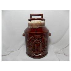 McCoy 1776-1976 Brown Drip Glazed Cookie Jar